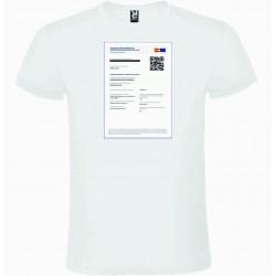 """Camiseta Basica Blanca """"certificado covid Impreso"""""""