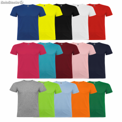 Camisetas color basicas sin...