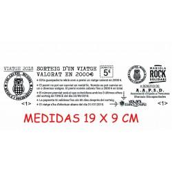 Talonarios para rifas, sorteos y entradas. medida 19x9 cm.